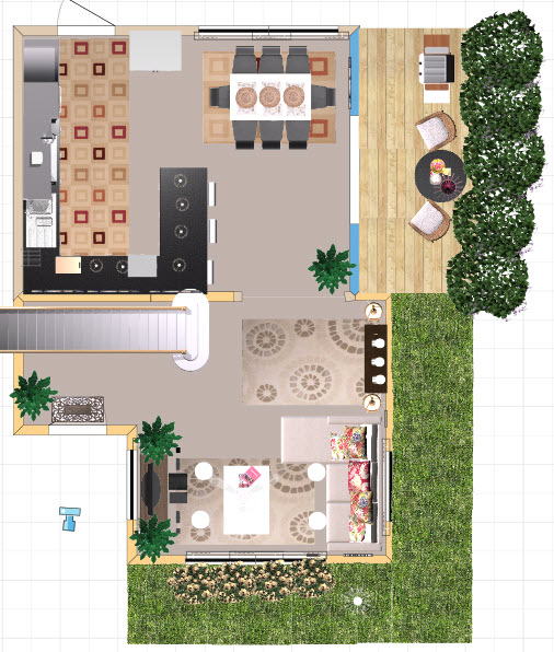 Home Design Top View Flisol Home